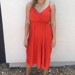 Dresses & Skirts - Mid-Length Orange/Red Dress